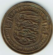 Jersey, George V, 1/12th Shilling 1923, VF, WB7472